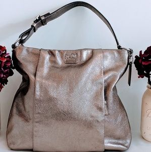 Gold Coach Hobo Bag